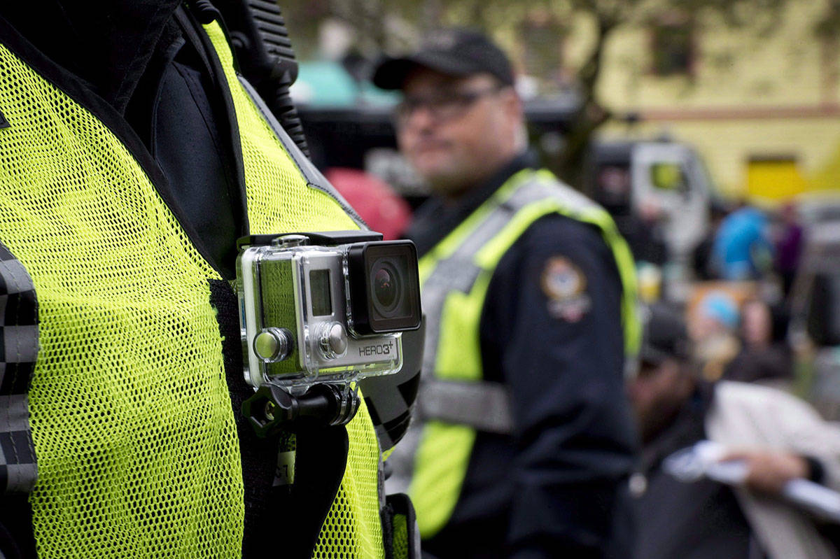 A petition has been launched to urge APD patrol officers to wear and turn on body cameras on the job. (THE CANADIAN PRESS/Jonathan Hayward)