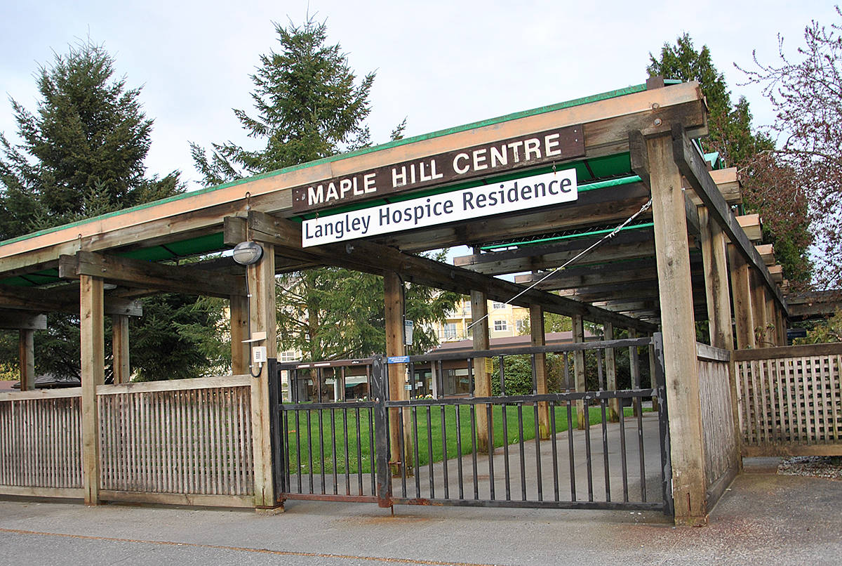 Maple Hill Centre, at the Langley Memorial Hospital, has a COVID outbreak. (Langley Advance Times files)