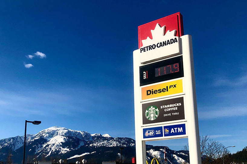 On 24 March, 2020 Revelstoke has one of the highest gas prices in the province. (Liam Harrap/Revelstoke Review)