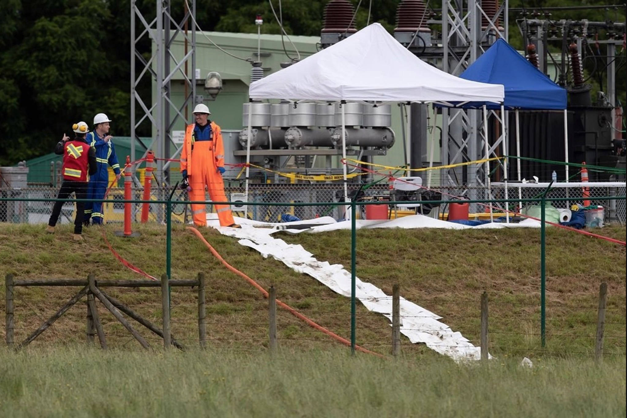 Trans Mountain said the oil spill on Saturday was fully contained on Trans Mountain property, in a June 15, 2020 story. (Photo by THE CANADIAN PRESS)