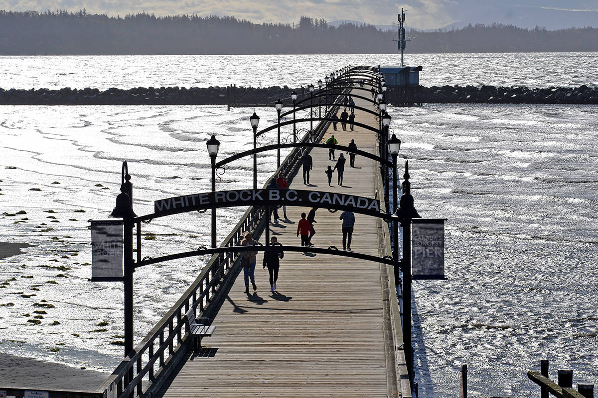 White Rock Pier is expected to re-open to the public within the next few days. Council made the decision at its Monday, June 15 meeting, with the caveat that it could be closed again if overcrowding becomes an issue. (File photo)