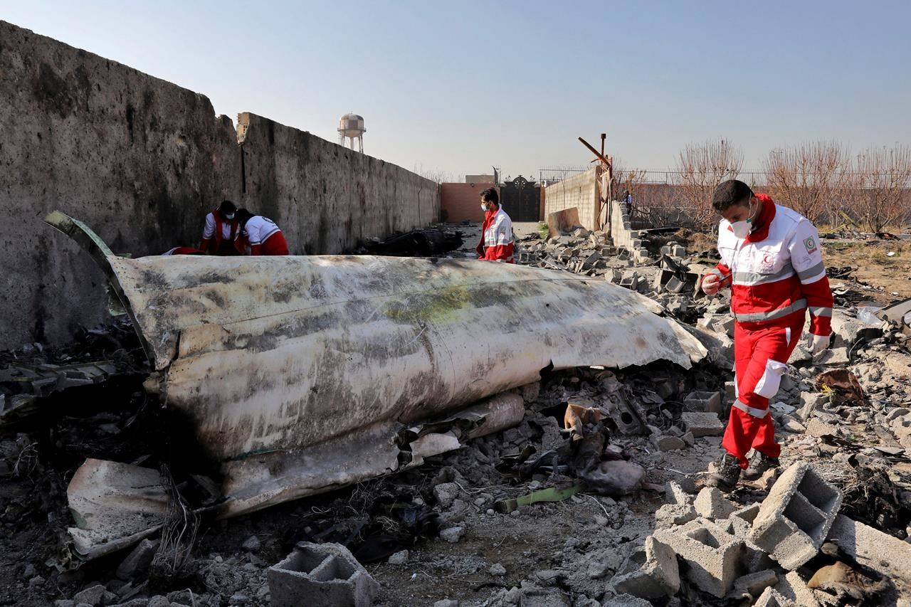 Flight PS752 was shot down by the Iranian military shortly after takeoff from Tehran's airport on Jan. 8, 2020, killing all 176 passengers and crew on board, including more than 50 Canadians. (The Canadian Press)