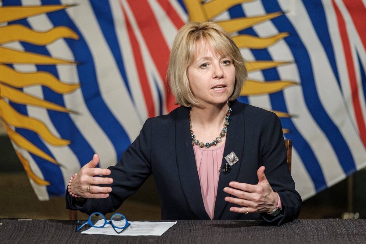B.C. provincial health officer Dr. Bonnie Henry speaks on pandemic response at the B.C. legislature, May 6, 2020. (B.C. government)