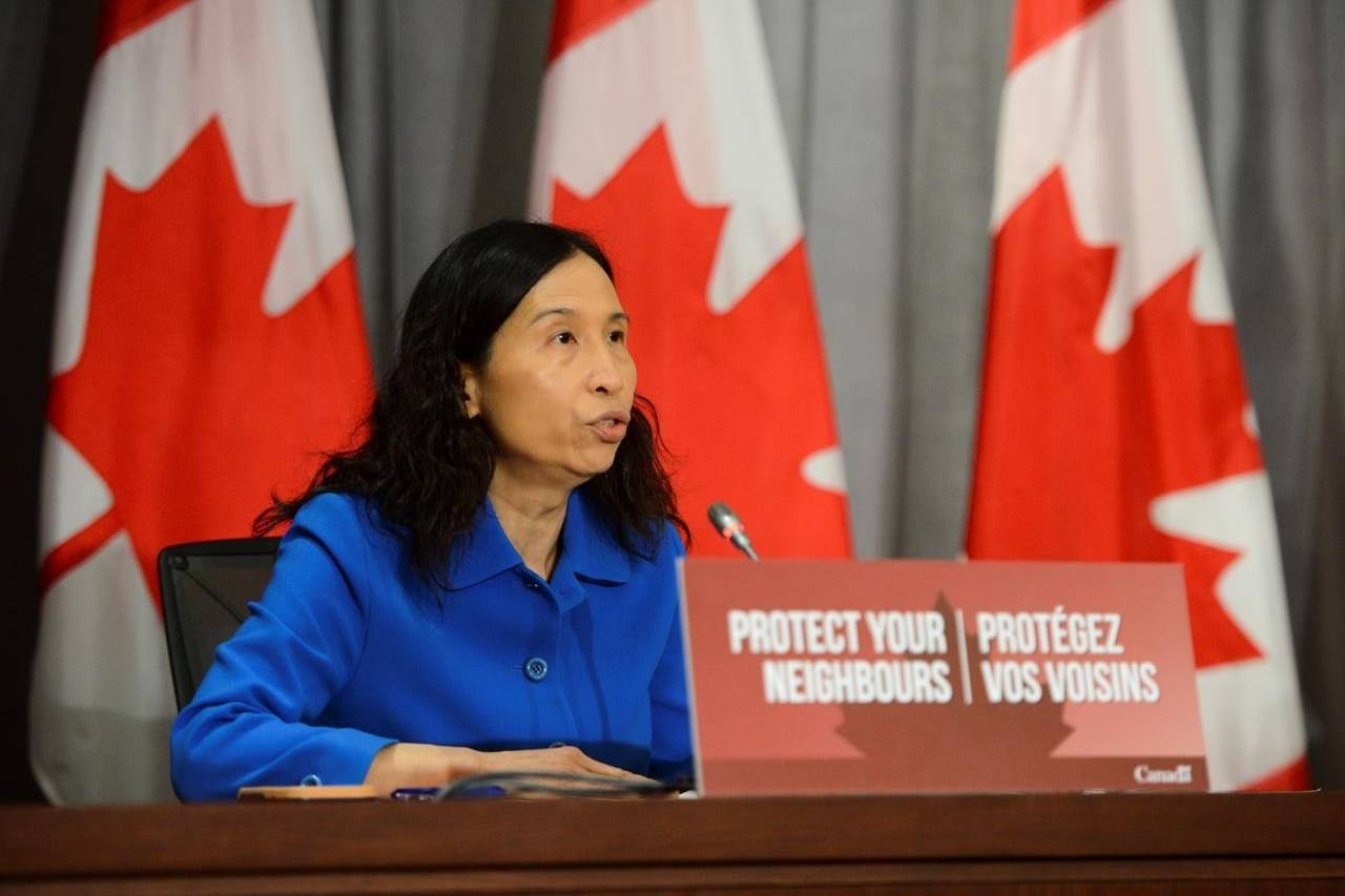 Chief Public Health Officer Dr. Theresa Tam holds a press conference on Parliament Hill amid the COVID-19 pandemic in Ottawa on Wednesday, June 17, 2020. THE CANADIAN PRESS/Sean Kilpatrick