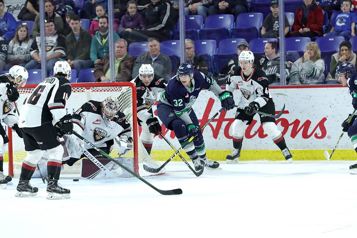 Vancouver Giants are among the 60+ teams named in a cross-Canada lawsuit alleging hazing, bully, and abuse of young players over the past four decades. (Robert J Wilton/Vancouver Giants files)