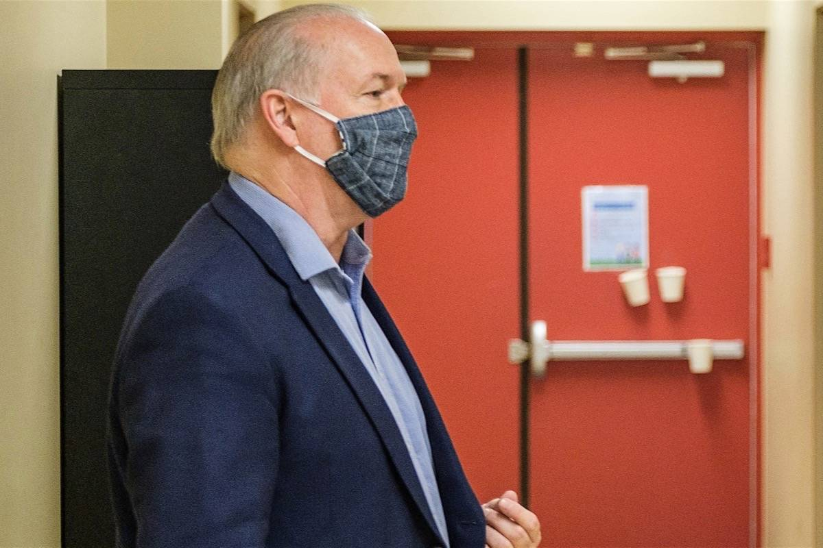 B.C. Premier John Horgan tours an expanded health clinic in Sooke, June 12, 2020. (B.C. government)