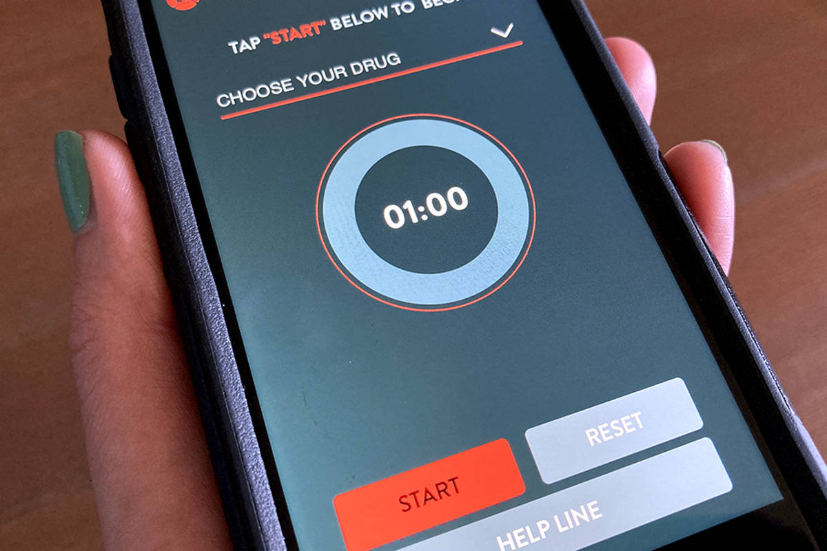 The Lifeguard app is designed to help people using illicit drugs get help if they overdose. (Black Press Media files)