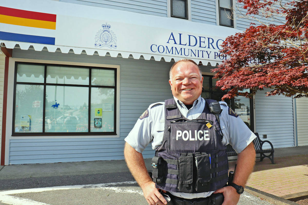Cst. Phil Colter is the new Langley RCMP officer that will take charge of the Aldergrove Community Policing Office this month. (Sarah Grochowski/Aldergrove Star)