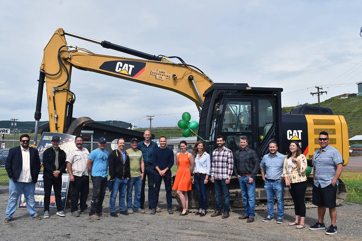 A groundbreaking ceremony for Sugar Cane Cannabis in Williams Lake was held Monday morning beside retail store Indigenous Bloom. (Rebecca Dyok photo)
