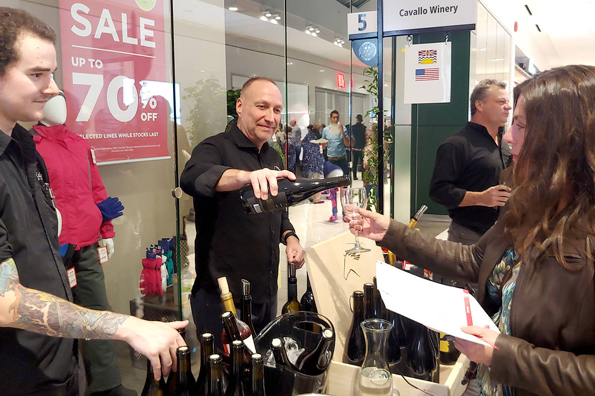 After a year's hiatus, the Fraser Valley Wine Tasting Festival returned to Willowbrook Shopping Centre in 2019, presented by the Rotary Club of Langley Central. (Black Press Media files)