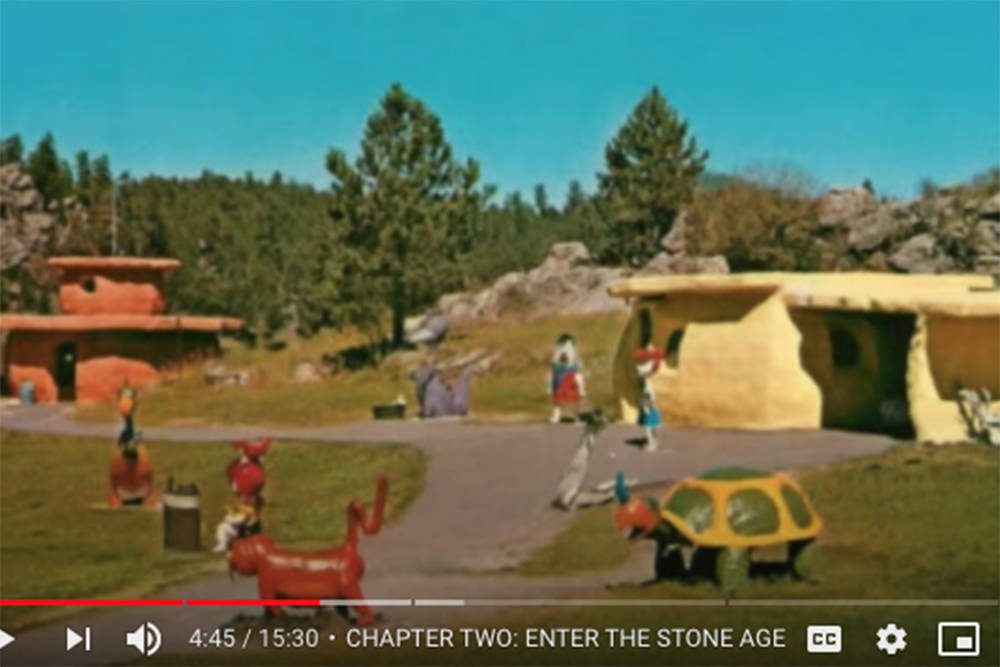 The original Bedrock City in Bridal Falls, outside of Chilliwack. (Youtube image)