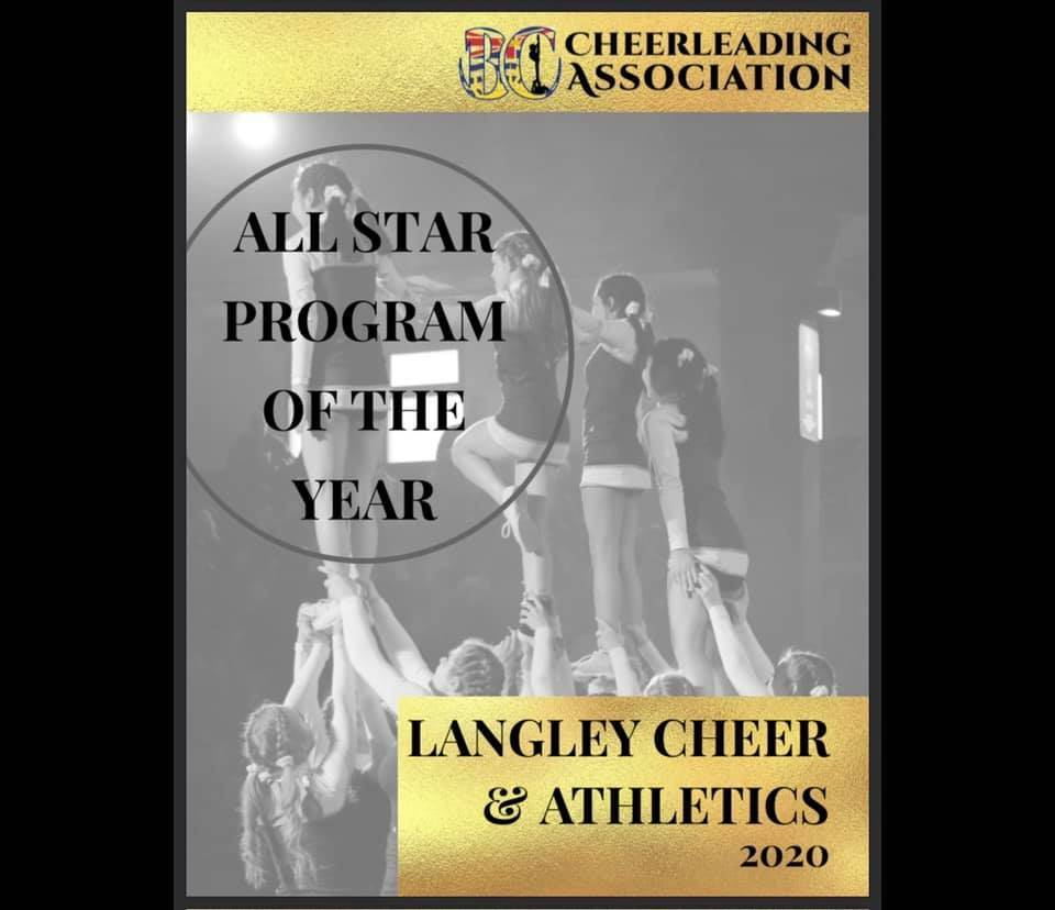 Langley Cheer and Athletics has just won won a prestigious industry award (special to Langley Advance times)