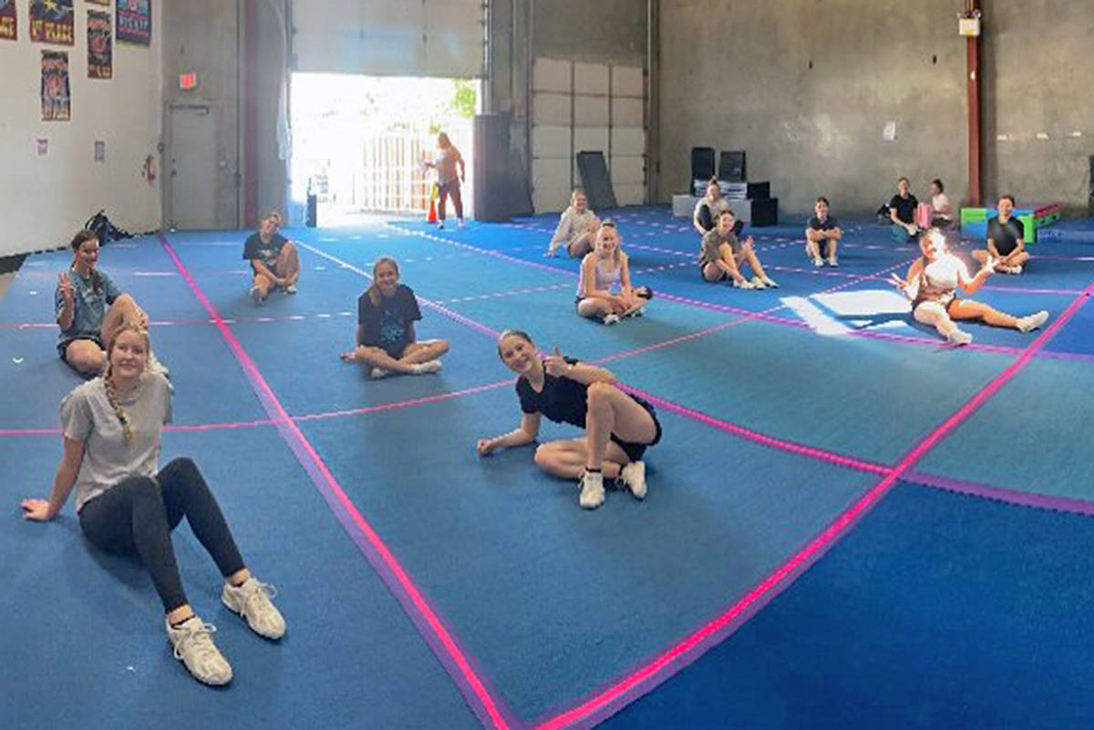 Xtreme Cheer and Dance in Langley has resumed in-studio practices, behind carefully defined boundaries (Lisa Bosch/special to Langley Advance Times)