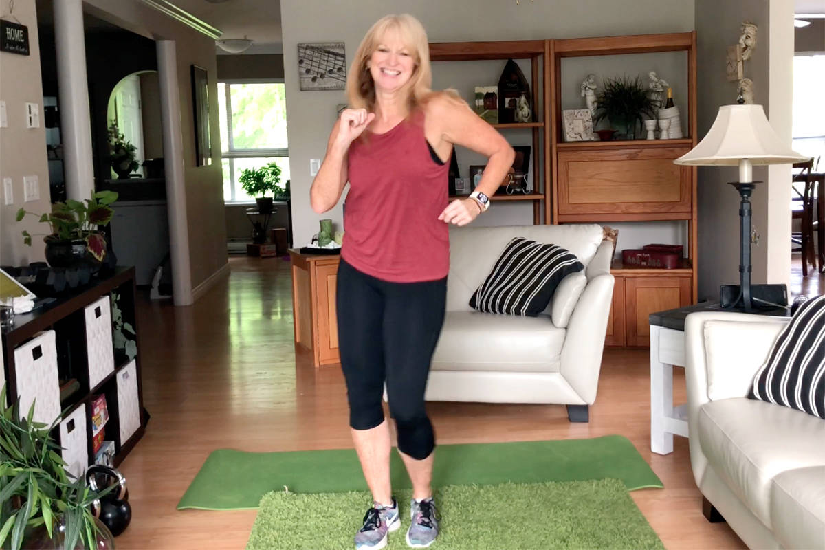 Marion Brand, owner of Brand Fitness in Langley, shared a Latin inspired cardio workout in this week's edition of Workout Wednesday hosted by Langley Advance Times. (Brand Fitness video screen shot)