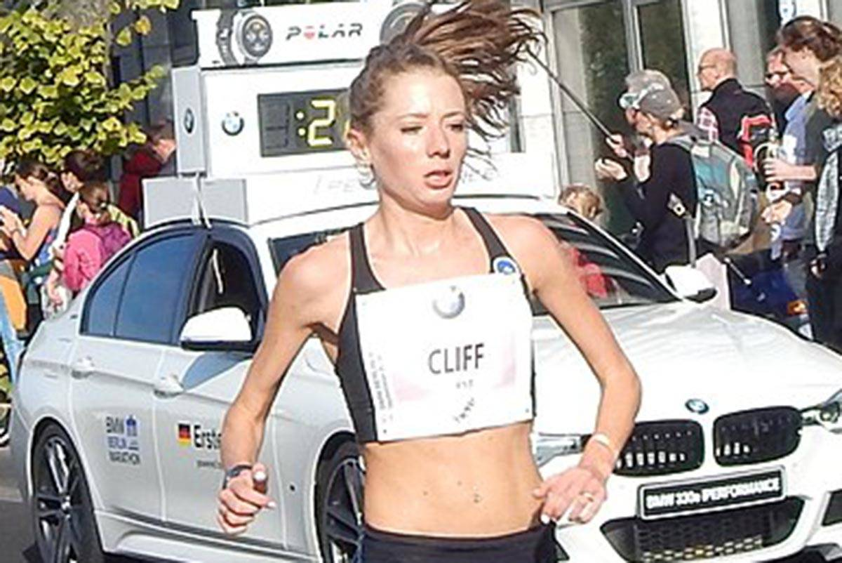 Rachel Cliff is a champion runner who is taking part in the Virtual 10K Championships on Canada Day. (Photo from wikimedia.commons)