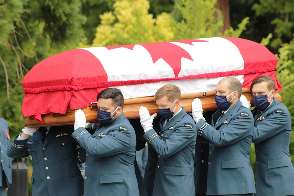 The body of Capt. Kevin Hagen, from Nanaimo, was returned to Vancouver Island on June 27. He was one of six who died in a helicopter crash in the Mediterranean Sea in late April. (Devon Bidal/News Staff)