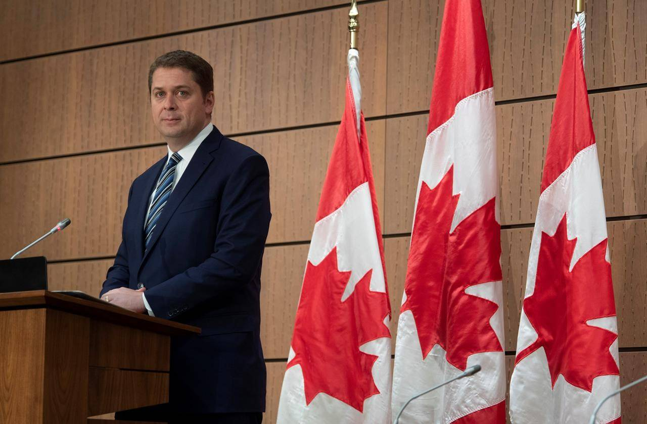 FILE – Federal Conservatives Leader Andrew Scheer. (The Canadian Press)