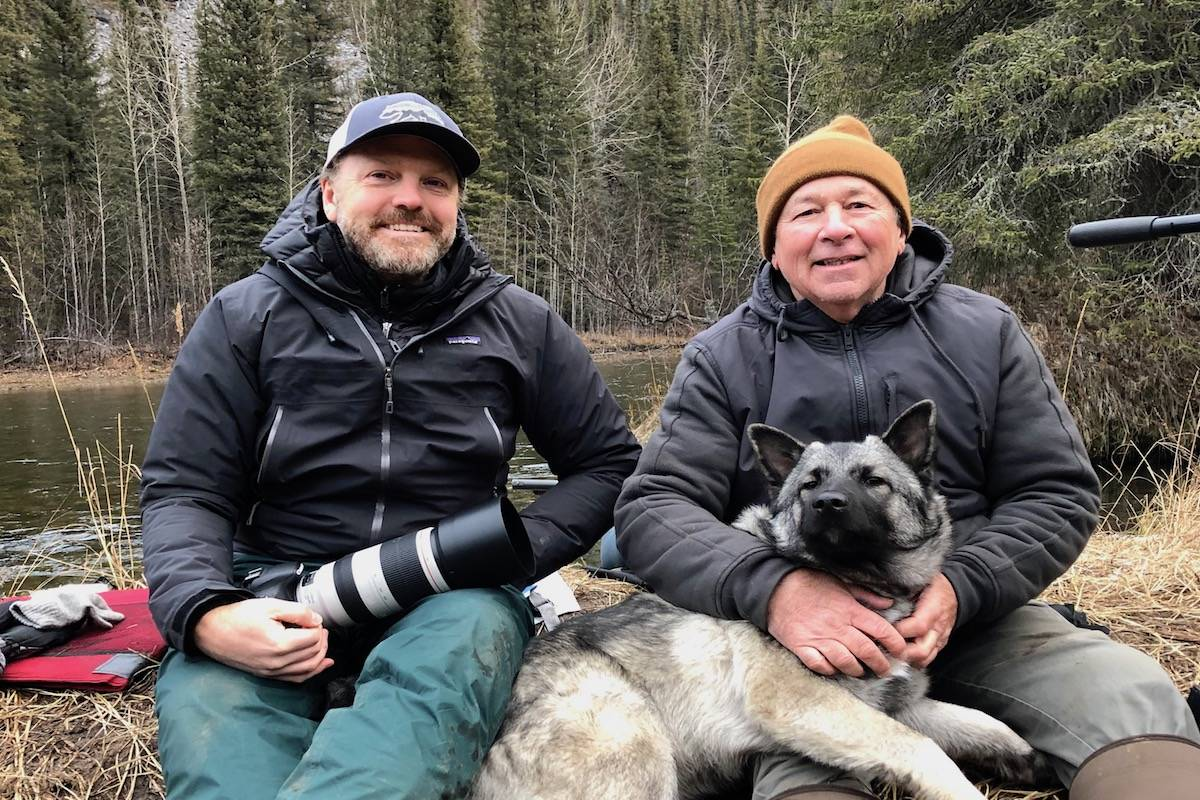 Nicolas Scapillati (left) with Phil Timpany who shares his story from Yukon in one of the episodes. (Submitted photo)