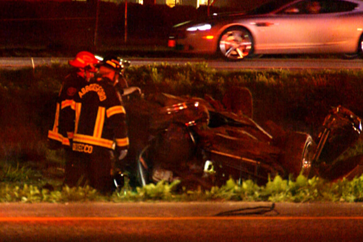Louis Morgan has now been sentenced for a 2016 rollover crash on Highway 1 near the Clearbrook Road exit in Abbotsford that resulted in the death of his wife, Shantelle. (Kevin MacDonald file photo)