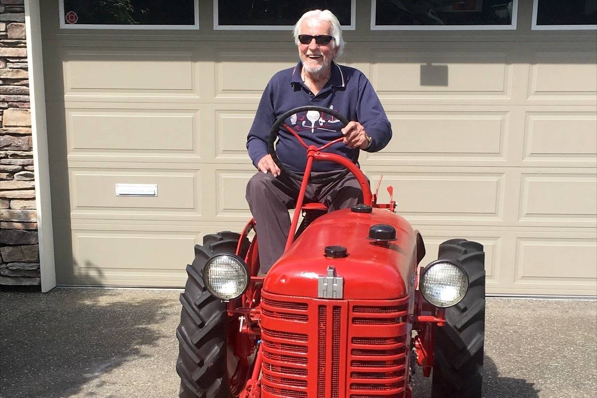 Bill McKeown on his newly restored 1956 Farmall Cub. (Contributed photo)