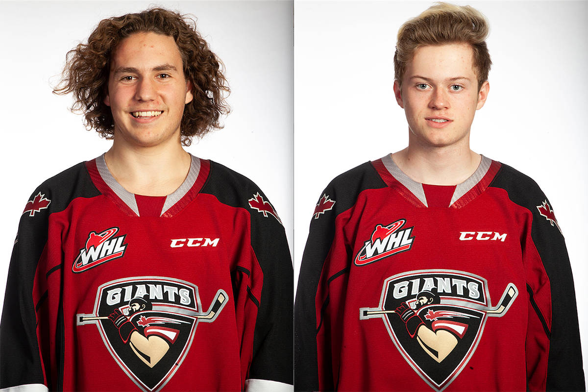 Giants Josh Niedermayer and Bowden Singleton were among 113 players from across Canada invited to participate in Hockey Canada's virtual U-17 Summer Development Camp which runs from July 19 – 25.(Photos by Chris Relke/Vancouver Giants)