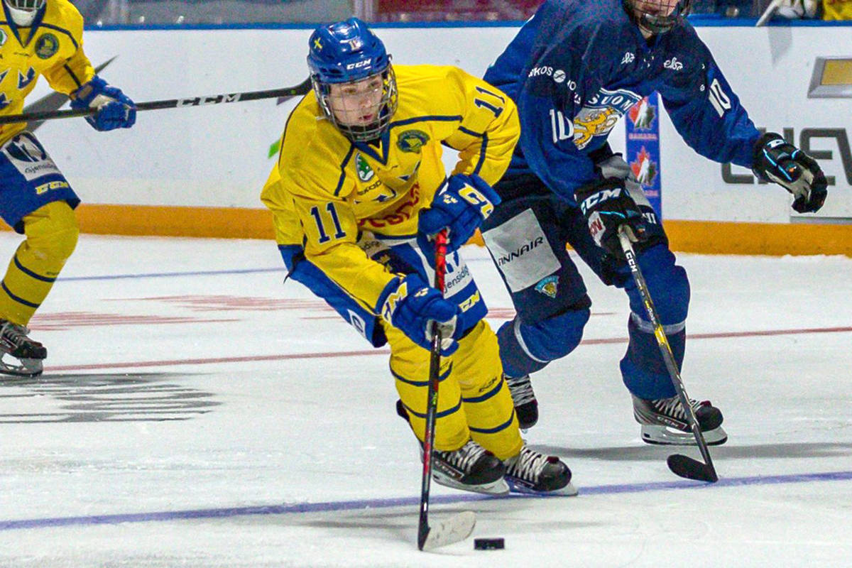 Vancouver Giants have signed 2003-born Swedish forward Fabian Lysell in the 2020 CHL Import Draft. (Courtesy Vancouver Giants)