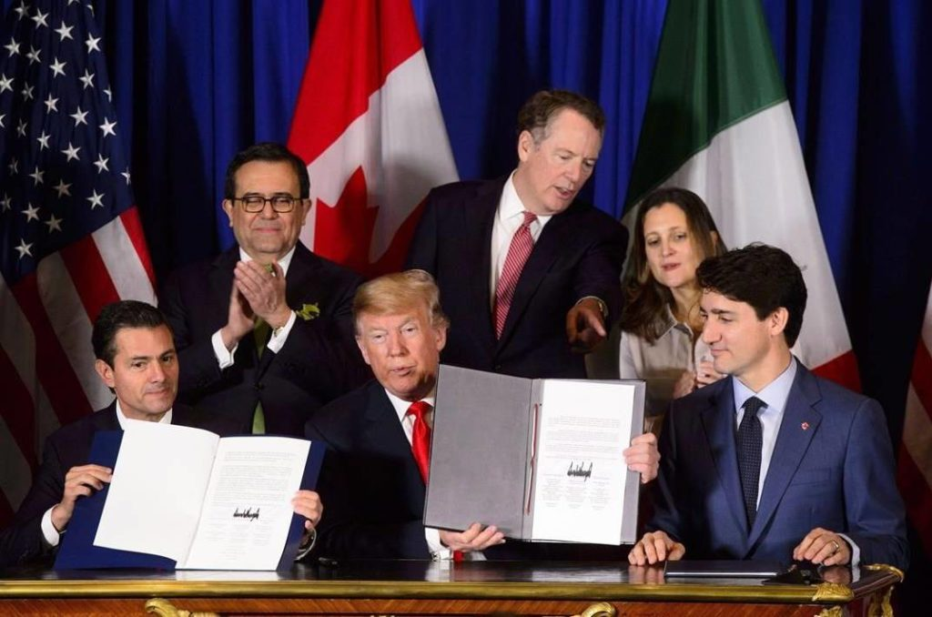 USMCA signing (The Canadian Press)
