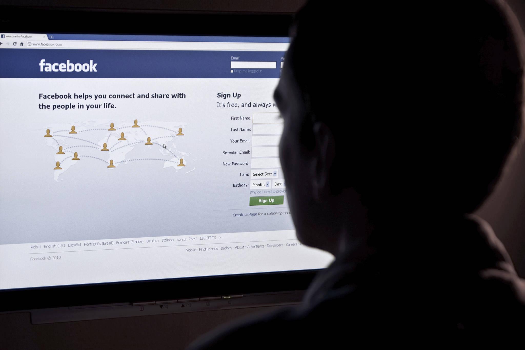 FILE – Facebook on web browser. (Dreamstime/TNS)