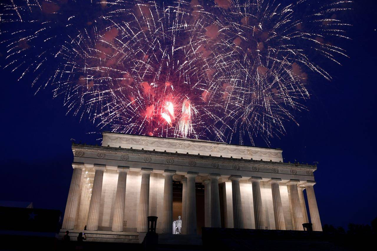 One of the largest fireworks displays ever will take place July 4. Image: The Canadian Press