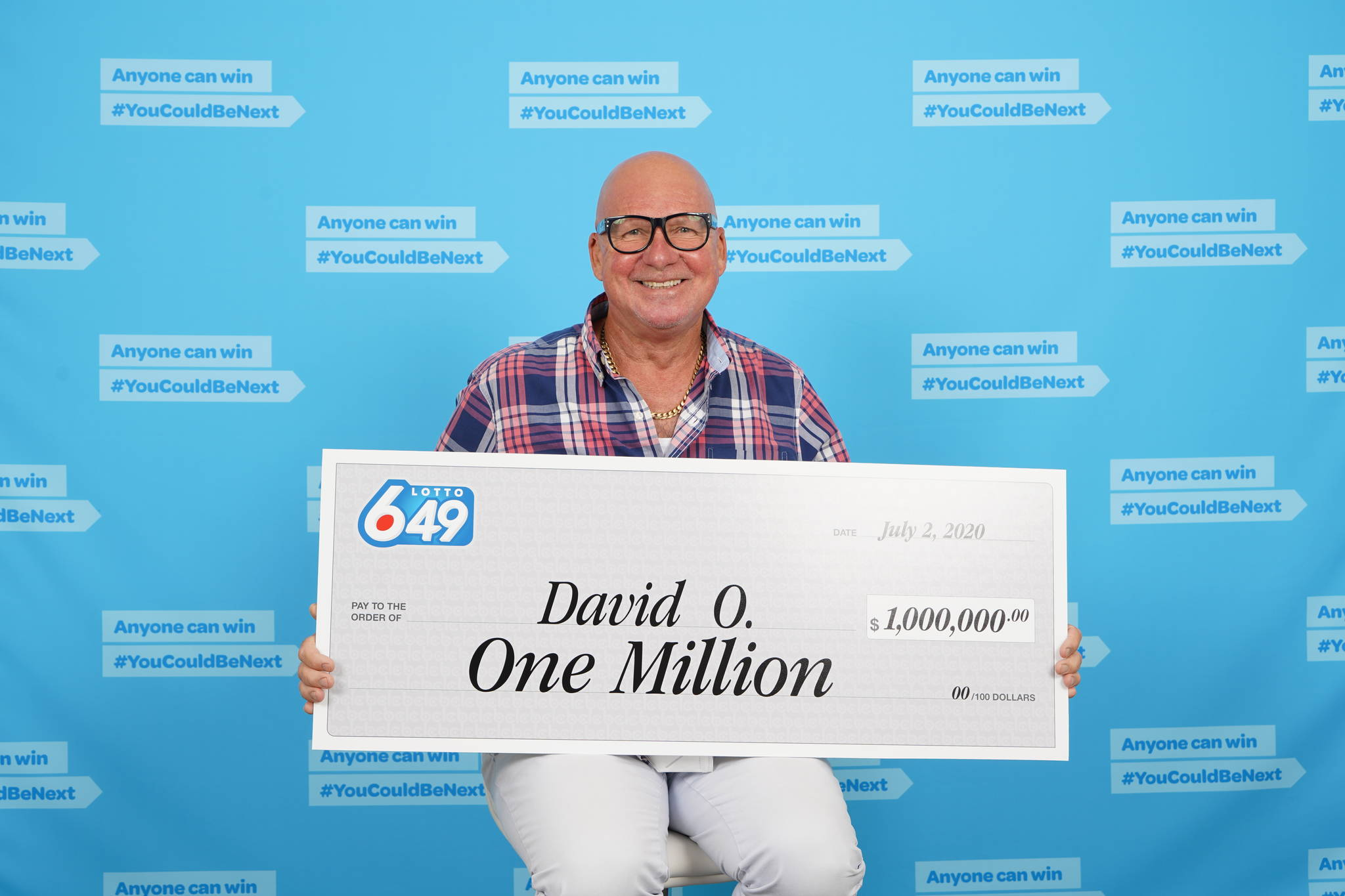 Lightning has struck twice for one Burnaby, B.C. man. David O'Brien collected his second major Lotto 6/49 winnings on July 3, 2020, in Vancouver.