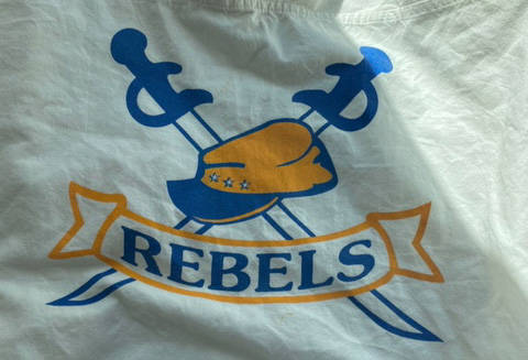 While civil war imagery has not recently been used by the school, the district says its past use links the name 'Rebels' to the Confederacy. Photo SD58