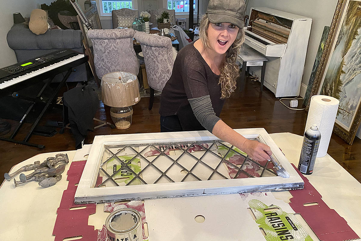 Teresa Penner was among the dozens of volunteers who worked together to transform the Bay family house into a wheelchair-accessible home. (Courtesy Teresa Penner/special to Langley Advance Times)