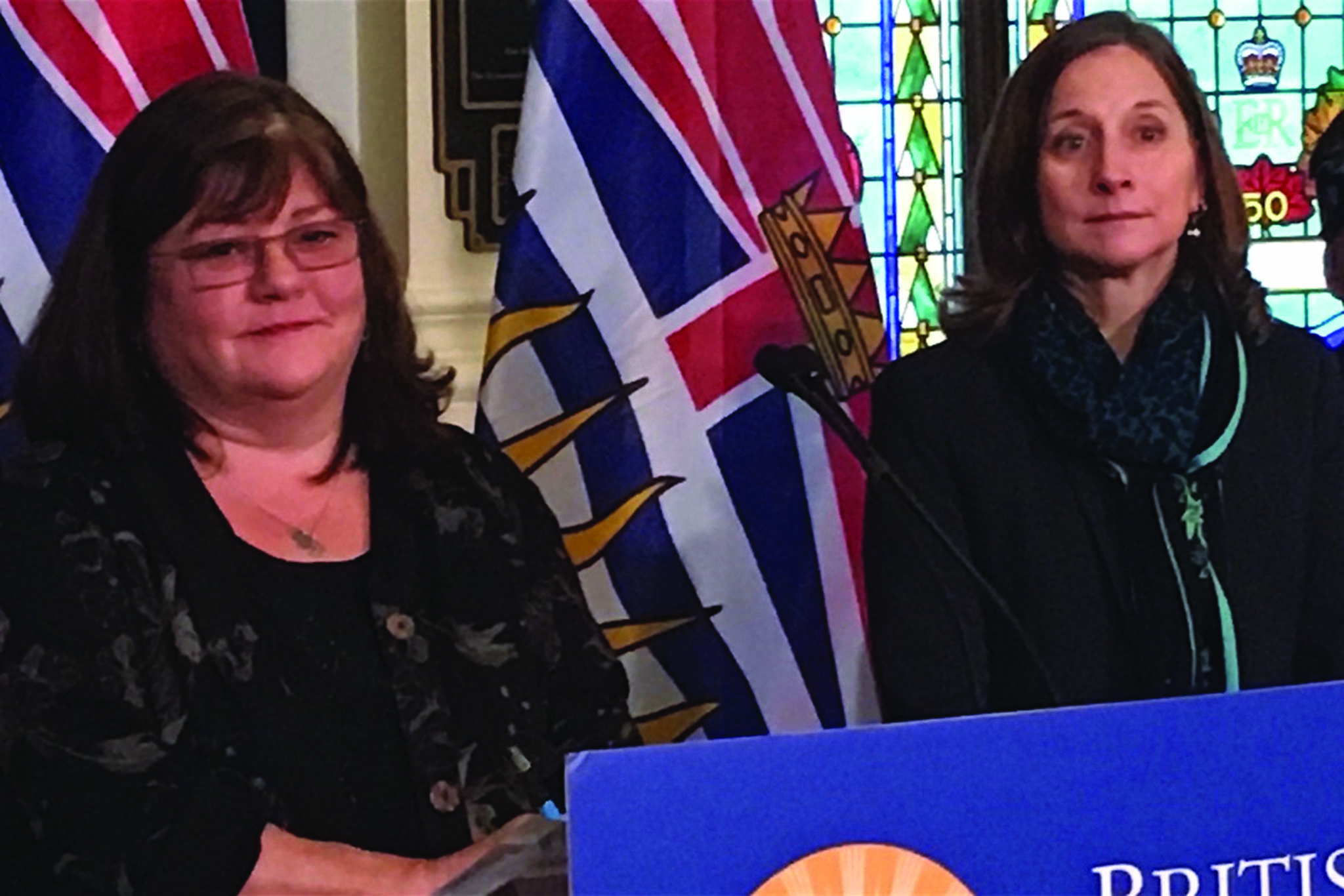 FILE – Shannon McDonald, deputy chief medical officer of the First Nations Health Authority, and B.C Chief Coroner Lisa Lapointe discuss ways to improve services to Indigenous youth at risk. (Black Press Media)