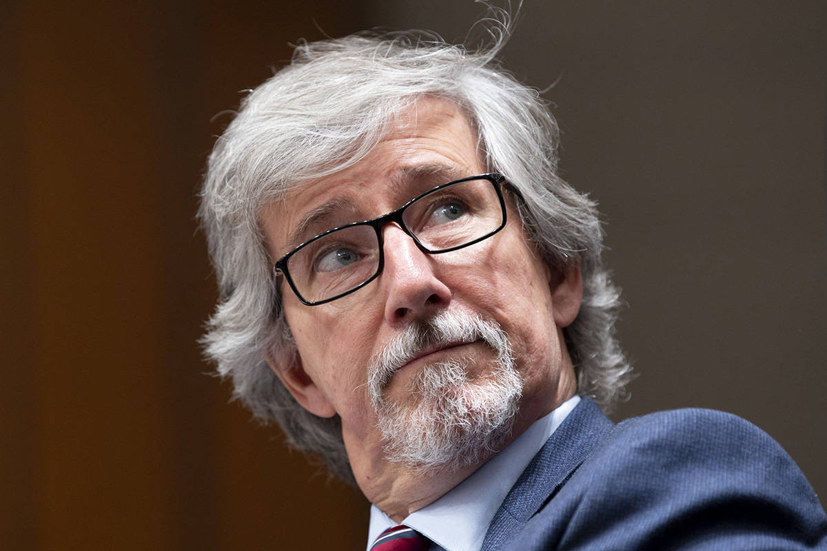 Canada's Privacy Commissioner Daniel Therrien waits to appear before The International Grand Committee on Big Data, Privacy and Democracy in Ottawa, Tuesday, May 28, 2019. The federal privacy commissioner says U.S. firm Clearview AI will stop offering its facial-recognition services in Canada in response to an investigation by the commissioner and three provincial counterparts. THE CANADIAN PRESS/Adrian Wyld