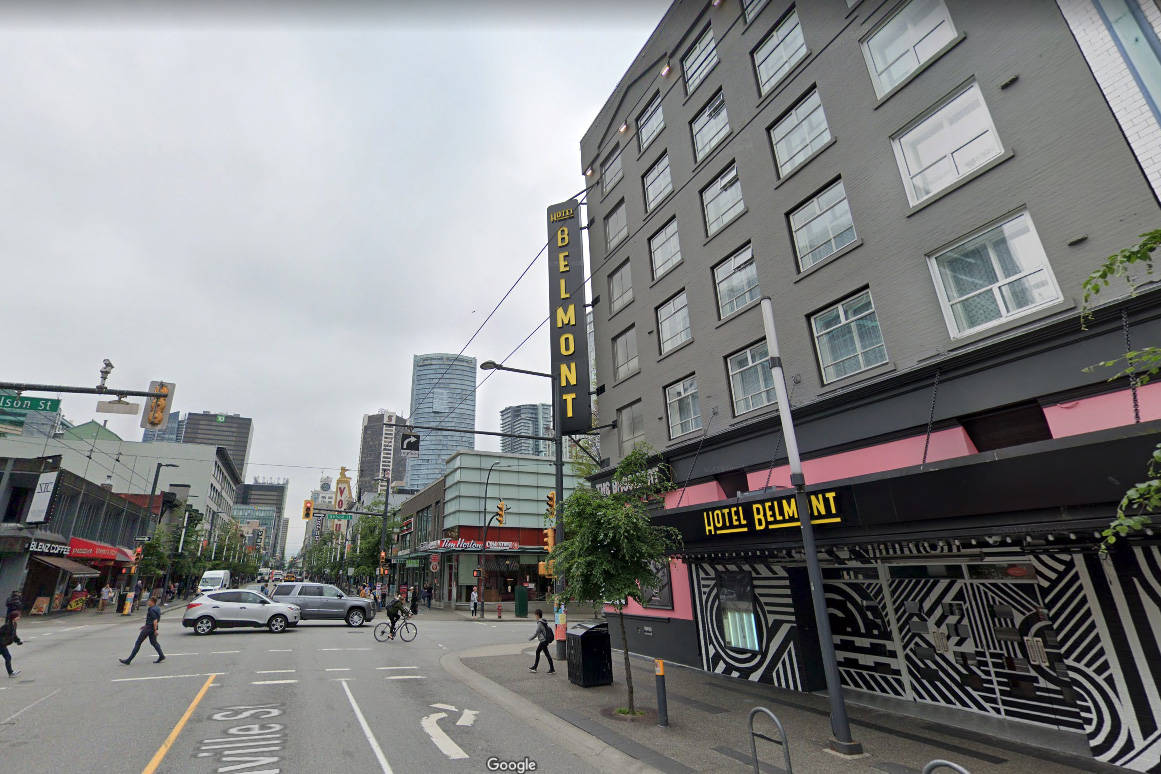 The Hotel Belmont in Vancouver. (Google Maps)
