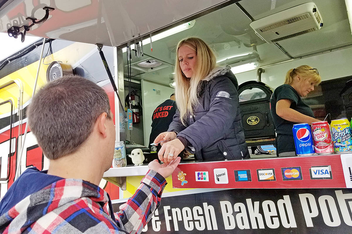 Food trucks are a big part of the Fort Langley's annual Cranberry Festival. This would have been year 25, but due to COVID, organizers have announced the 2020 event has been cancelled. Watch for details about the 2021 Thanksgiving celebration. (Langley Advance Times files)