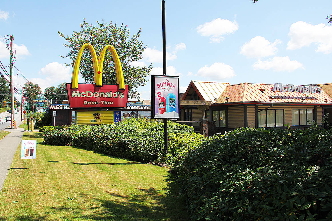 An employee at the Cloverdale McDonald's on Highway 10 has tested positive for COVID-19. (Photo: Malin Jordan)