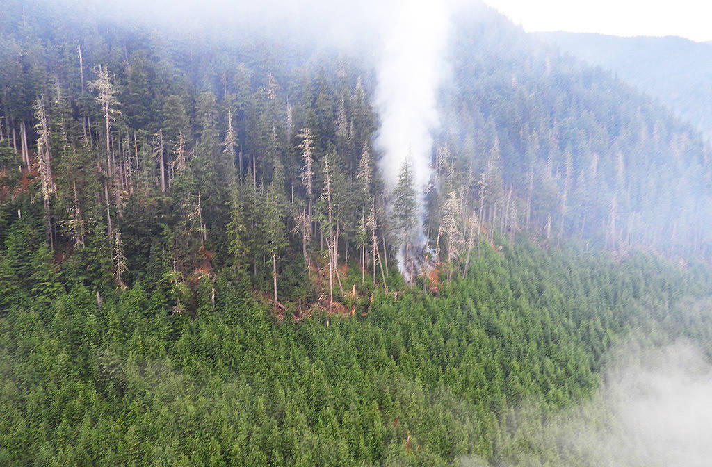 A previous year's wildfire in B.C. (Photo BC Wildfire Service)