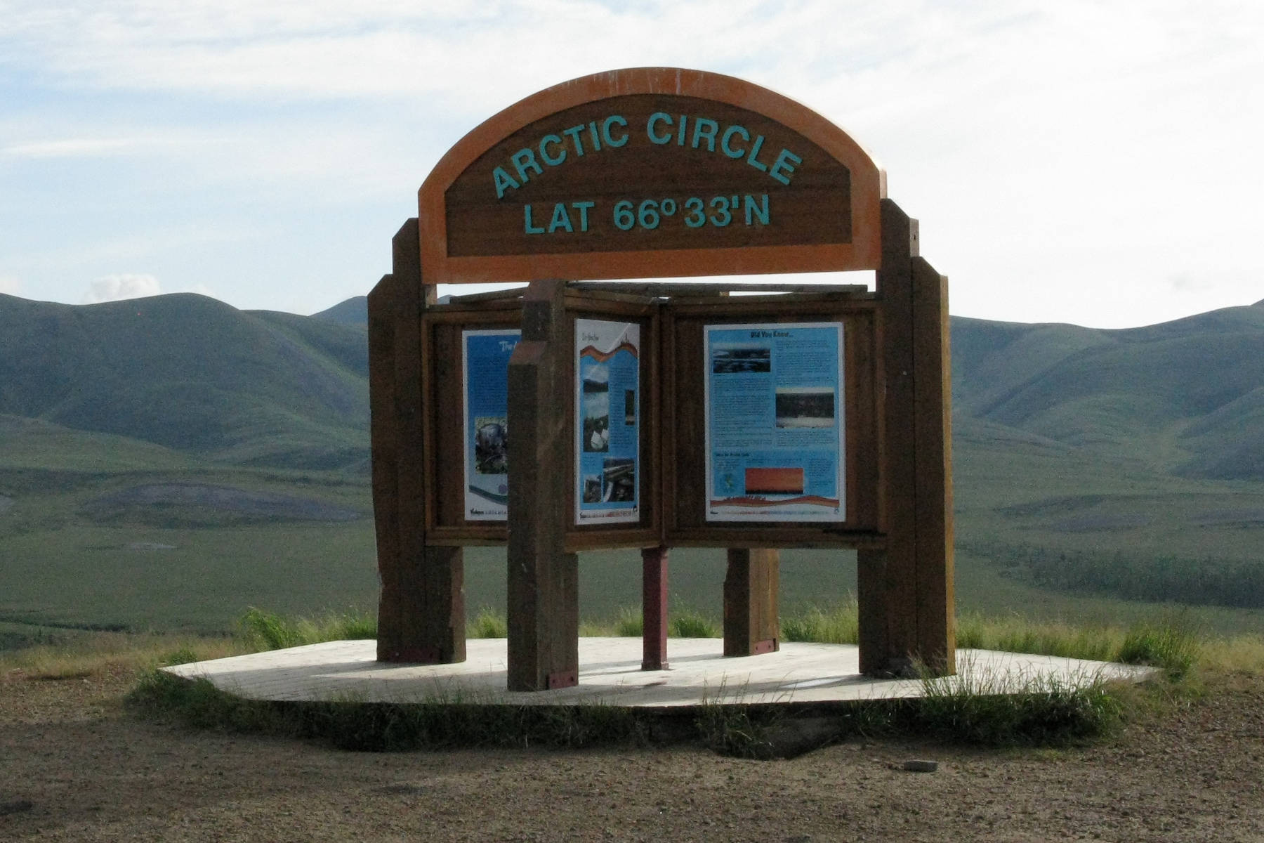 It is possible to drive from southern Canada to a point north of the Arctic Circle. How far north is it possible to drive? (John Arendt - Black Press)