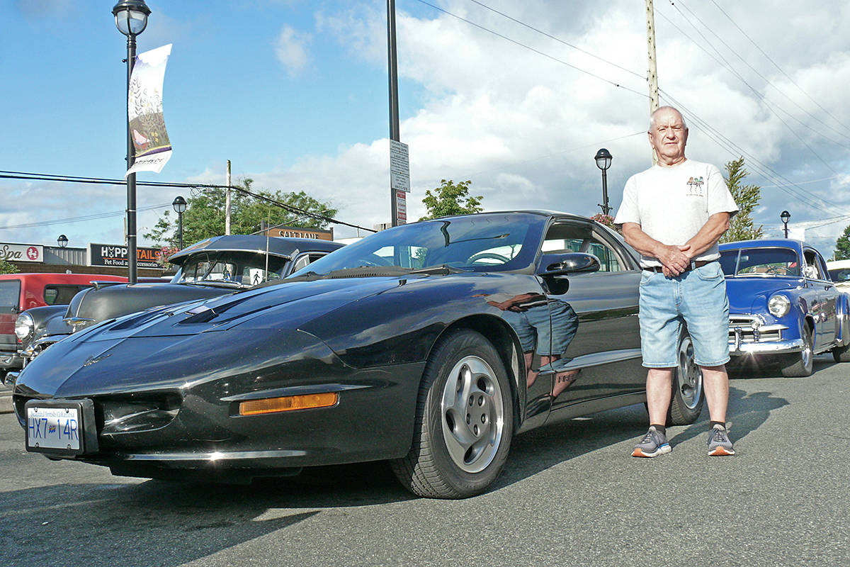 Fernridge resident David Turner, seen here at the start of the Brogan's Diner fundraising ride against cancer in Langley City on July 12, 2020, found his latest car, a 1995 Firebird, at the back of an Aldergrove barn.(Dan Ferguson/Langley Advance Times)