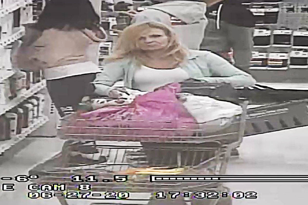 The suspect in a $100 shoplifting incident at Superstore. (Langley RCMP)