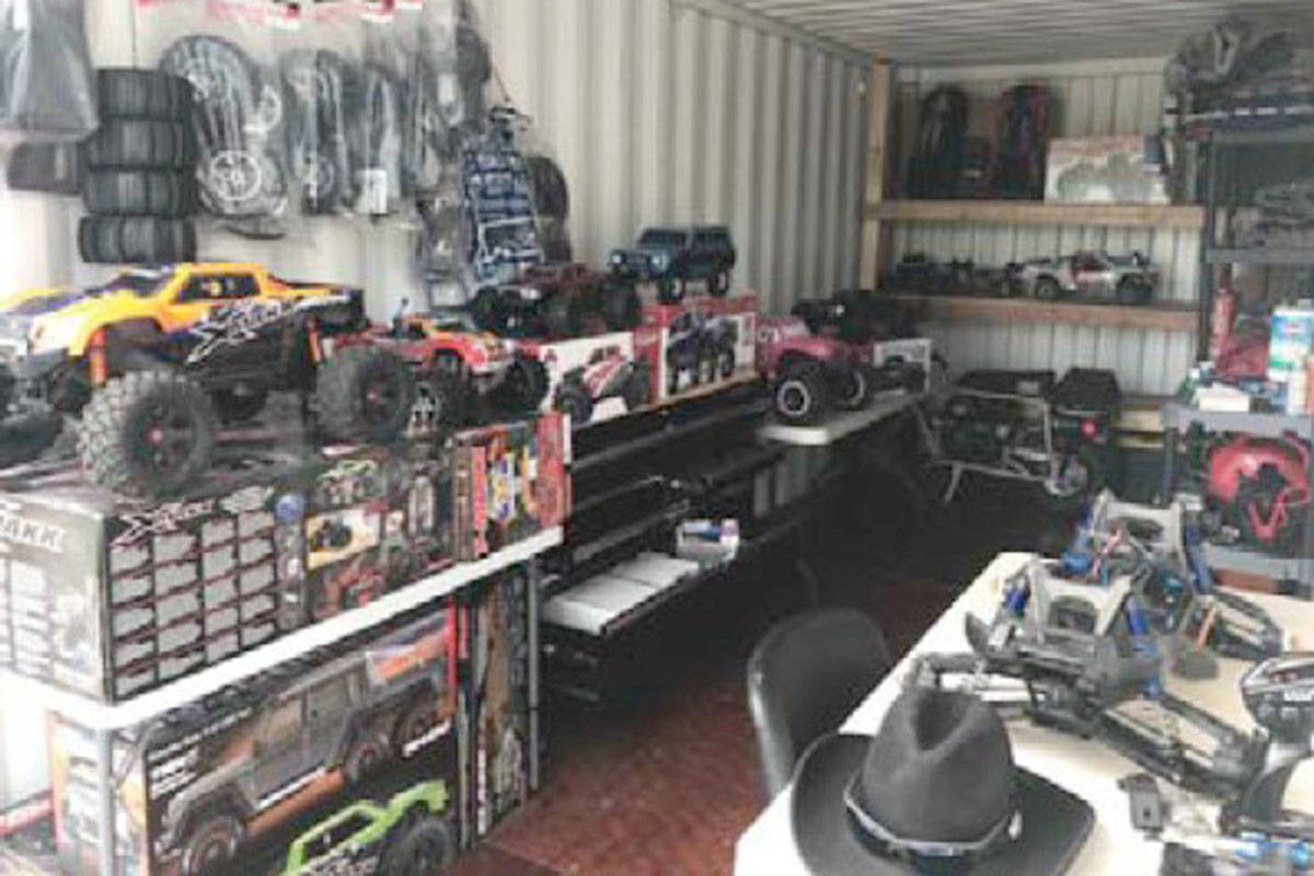Someone made off with thousands of dollars worth of radio controlled cars from a Langley storage container. (Langley RCMP)