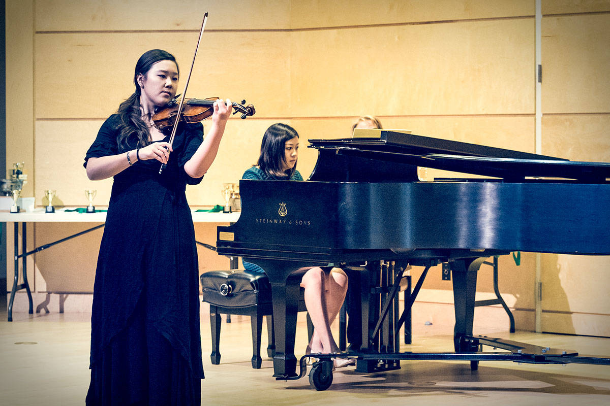 Young violinist and pianists lauded by Langley Community Music School