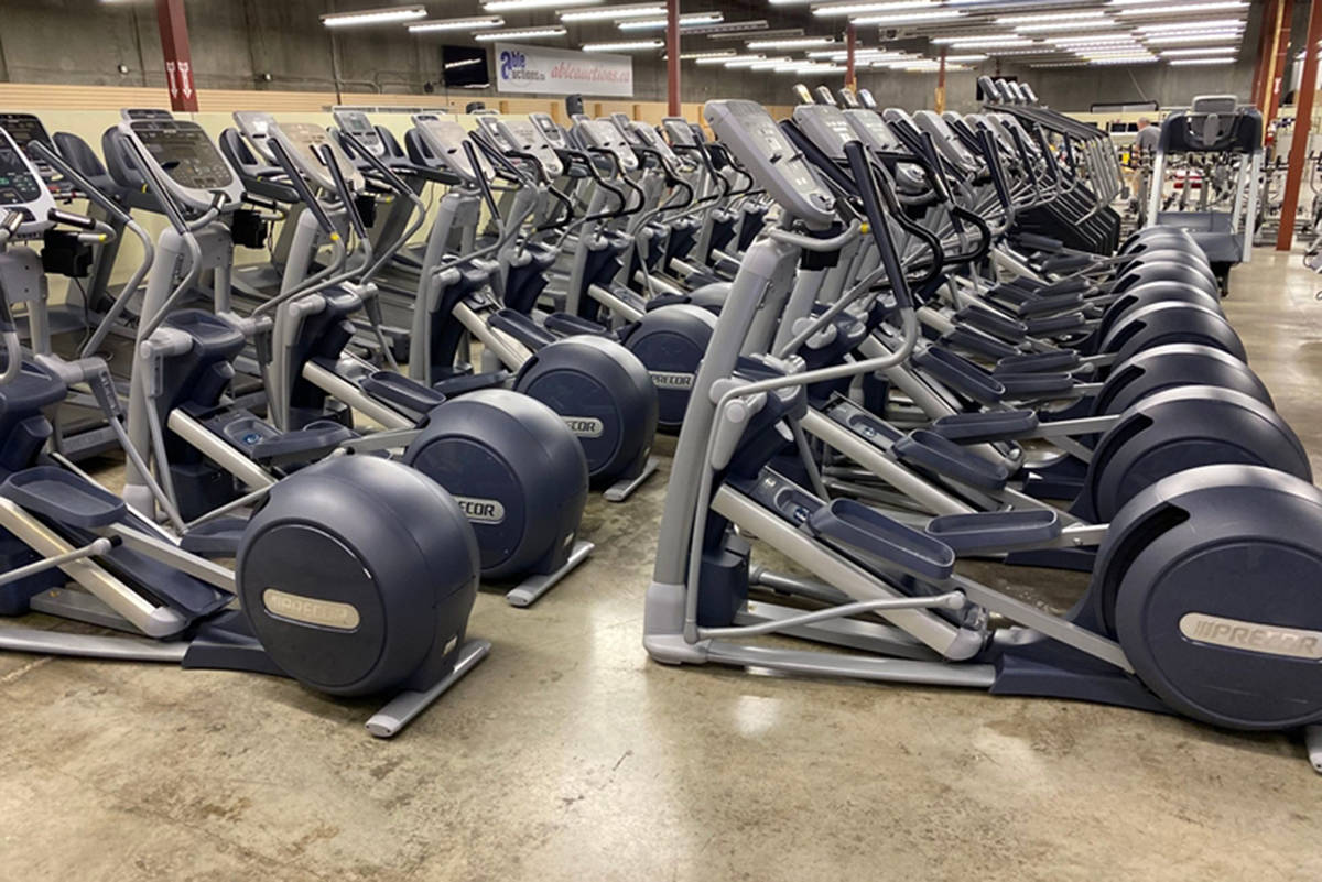 Fitness equipment to be auctioned in a photo posted to ableauctions.ca.