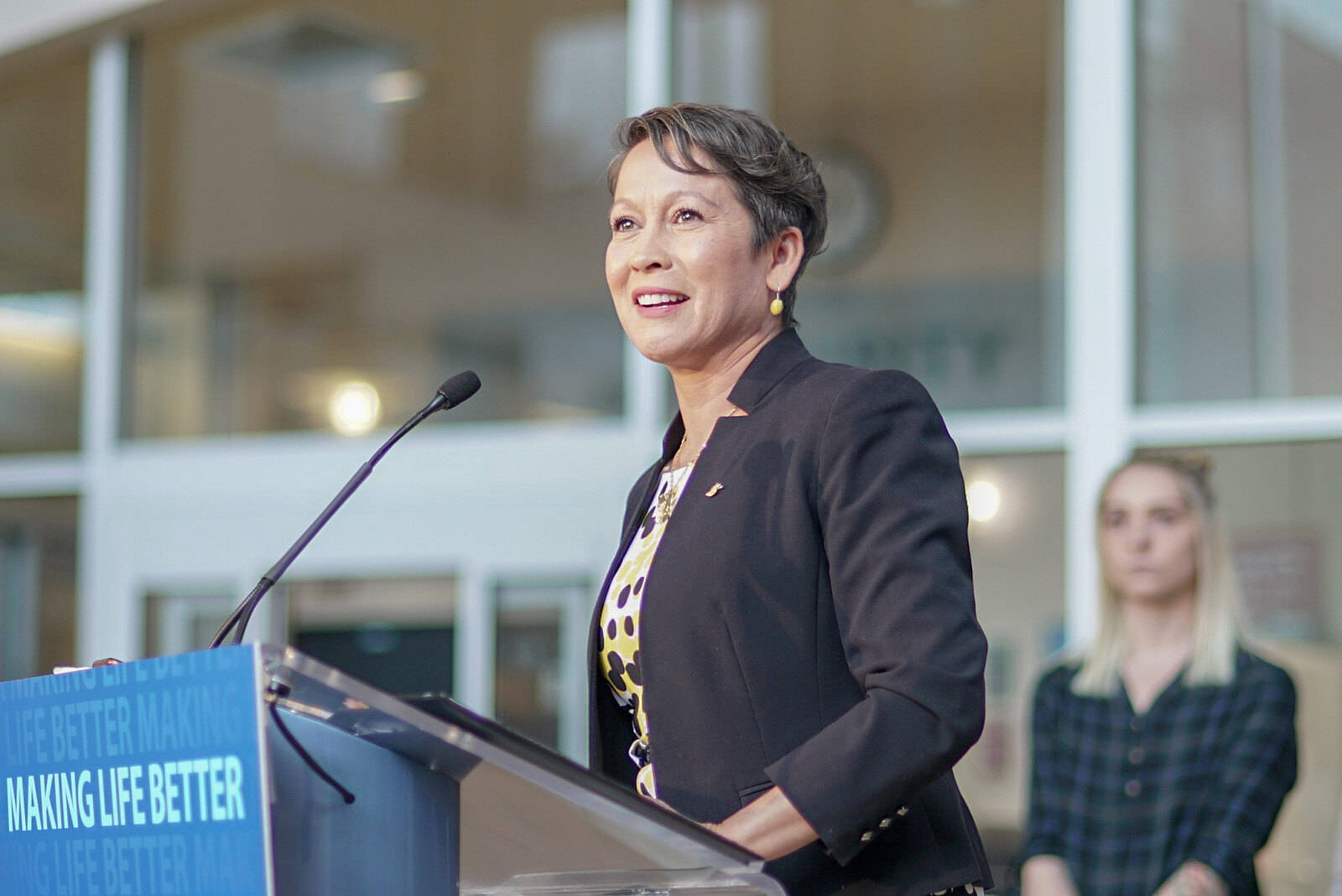 B.C.'s Minister of Advanced Education Melanie Mark is Indigenous and she grew up in government care. (B.C. government photo)
