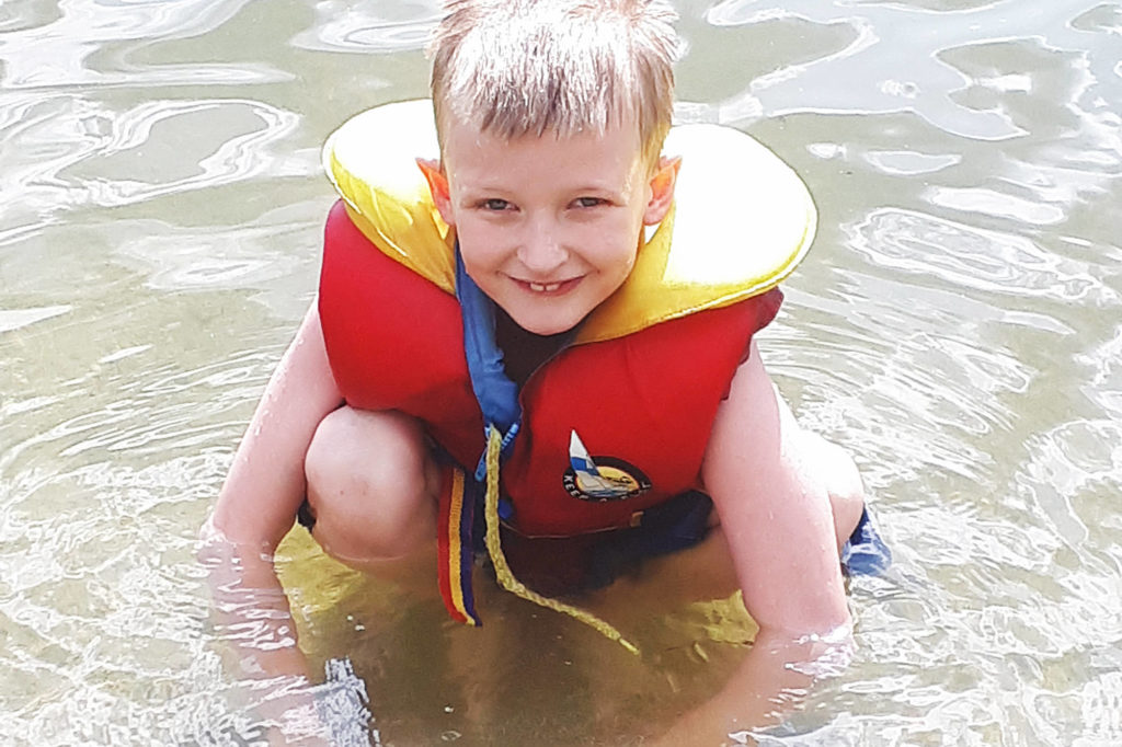 Seven-year-old Cody Krabbendam is a hero after jumping into Shuswap Lake to save an older boy from drowning near Sicamous Beach Park on Saturday, July 11, 2020. (Contributed)
