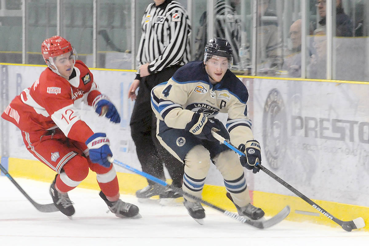 Langley Rivermen are hoping to be back training at The Lodge by September, with regular season play expected to begin in December. (Langley Advance Times files)