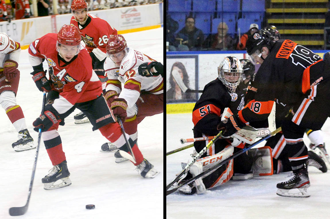 The B.C. Hockey League has announced it plans to start its 2020-21 regular season Dec. 1, though teams can start training camps in early September. (Black Press file photos)
