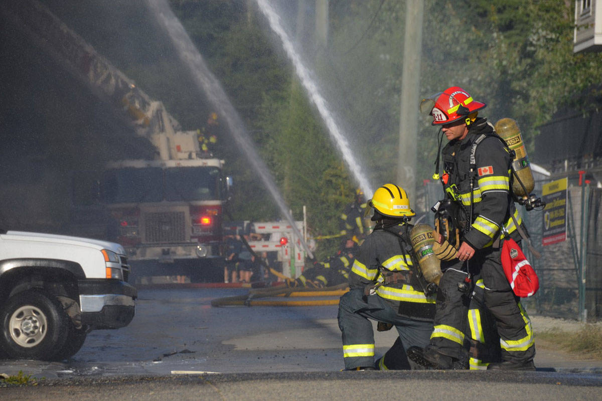 Fire gutted at Langley City apartment building on Friday evening. (Curtis Kreklau/South Fraser News Service)