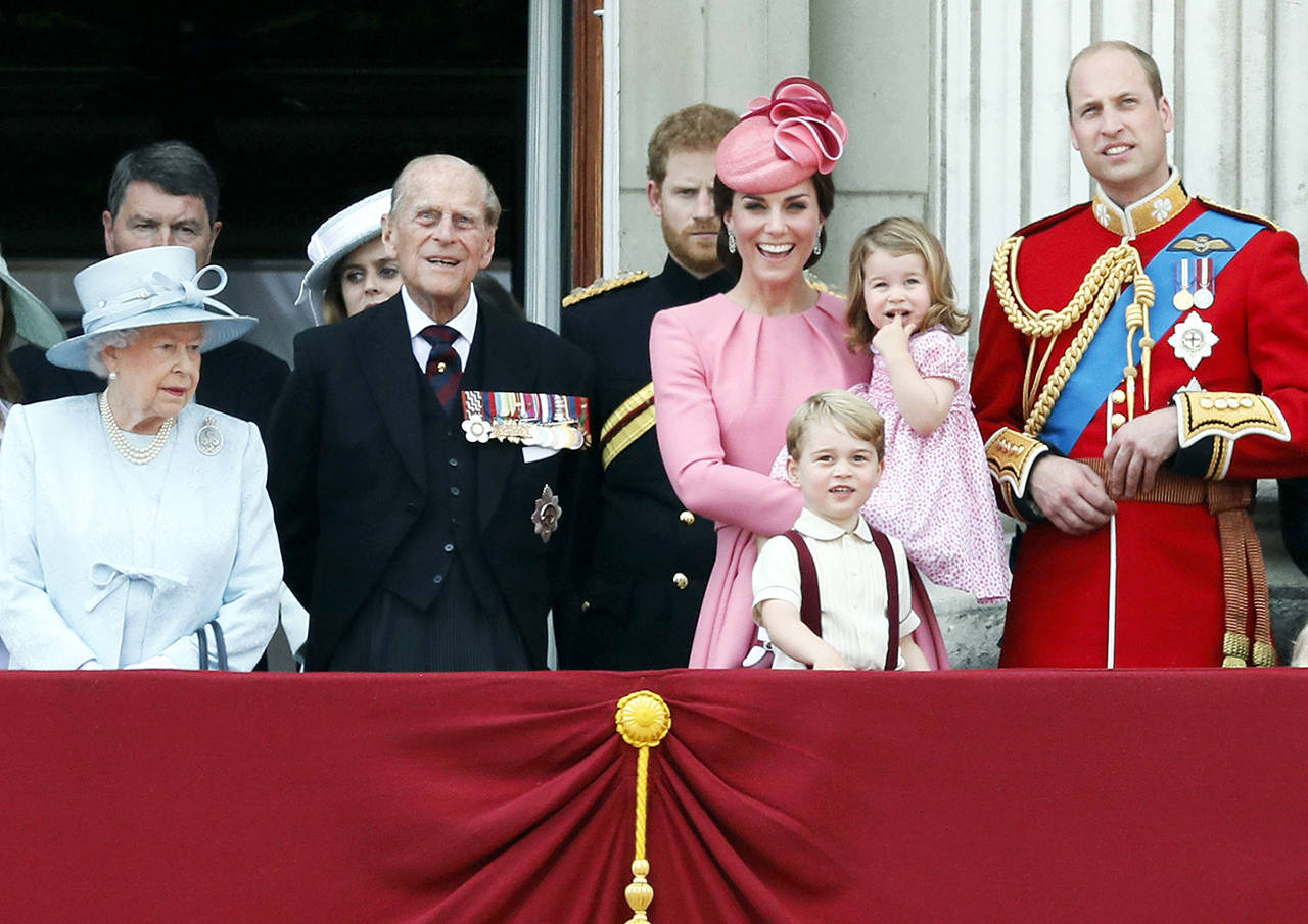 Prince George, heir to the British throne, is puctured in this file photo dated Saturday, June 17, 2017, members of the British royal family. How much do you know about Prince George, other princes and other people named George? (AP Photo/Kirsty Wigglesworth, FILE)